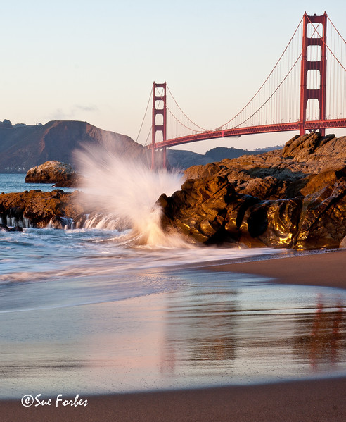 Golden Gate Bridge <br /> Golden Gate Bridge, San Francisco, from Baker Beach at sunset