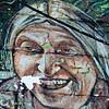 Laughing lady wall art