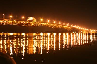 The Coleman Bridge, taken from Riverwalk Marina, Yorktown, Va.