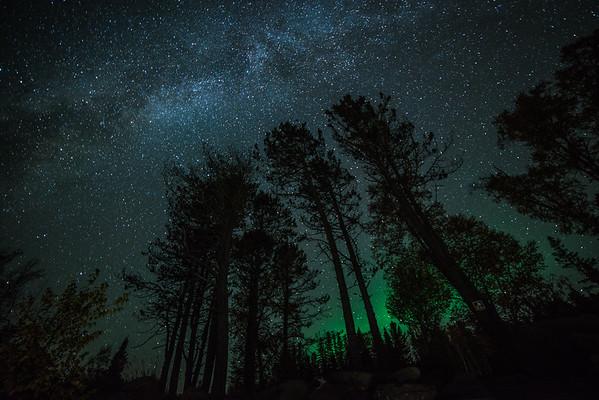 Milky Way and the Northern Lights - Lake Superior, Minnesota, USA