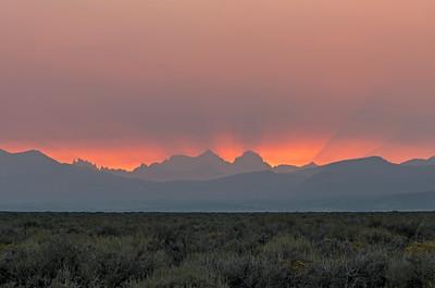 Smokey sunset, Mammoth Lakes CA