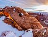 Mesa Arch sunrise,  Canyonlands National Park,  Utah