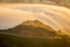 Malibu foggy road at sunset