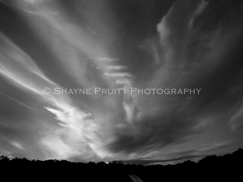 Sunset in Black and White, Hoschton, Georgia