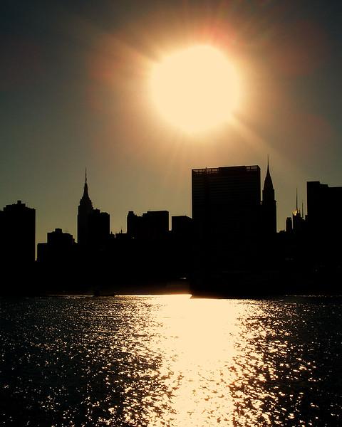 New, York, City, Manhattan, Empire, State, Building, skyline, city, park