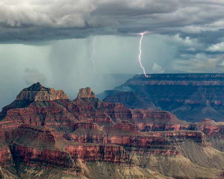 Lightening over the Grand Canyon
