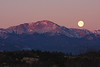 Full Moon sitting near Pikes Peak, February 19 2011.