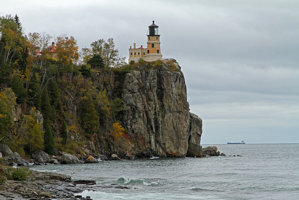 Split Rock Lighthouse And Ship