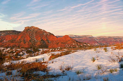 "Caprock Canyon State Park after a recent snow storm, dropping 10"" inches of snow."