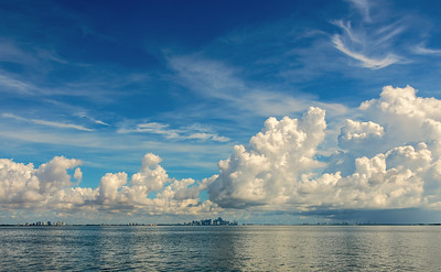 Miami Skyline from Biscayne Bay