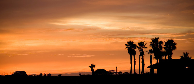 Pacific Coast Highway sunset, Huntington Beach