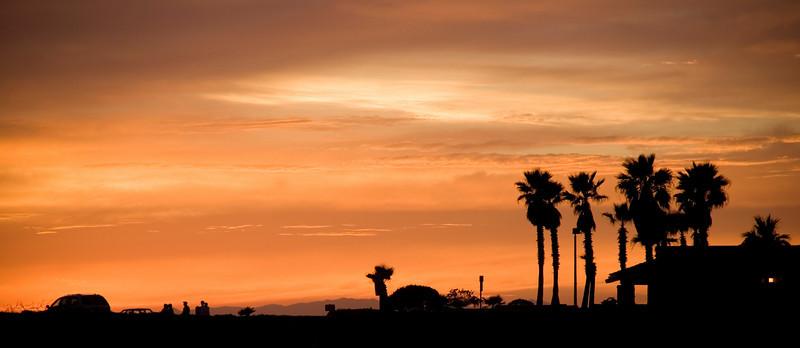 Pacific Coast Highway sunset, Huntington Beach