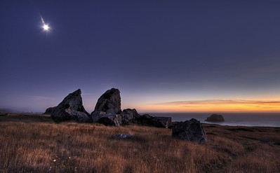 Goat Rock Moonrise