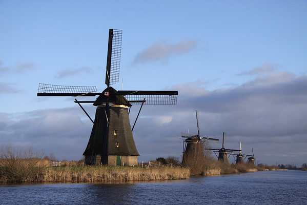 Kinderdijk in Winter