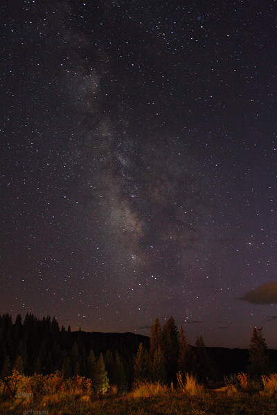 Milky Way from Cumbres Pass Colorado, September 21 2011.