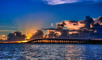 Sunrise at the Eau Gallie Causeway = Melbourne, FL