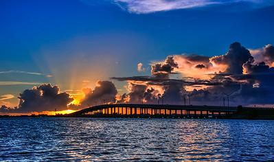 Sunrise at the Eau Gallie Causeway = Melbourne, FL