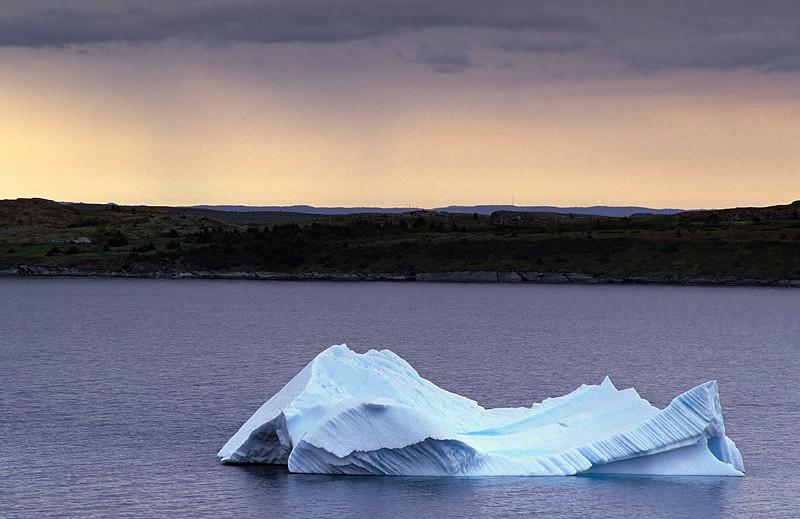 Grounded Iceberg at Dusk