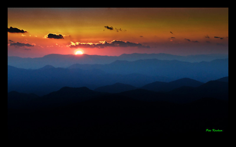 Sunset over the Blue Ridge Mountians.