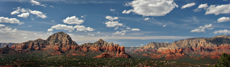 Overlooking Sedona, Arizona from Airport Road.