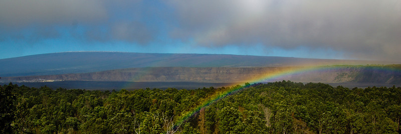 Double Rainbow; January 1, 2008; Hawaii Volcanoes National Park, Big Island, Hawaii