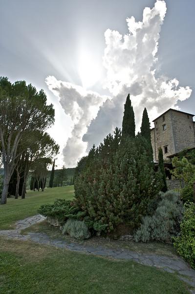 Approaching Storm, Castello di Spaltenna, Gaiole in Chianti, Italy