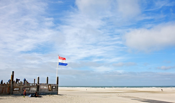 Sea side view on the island of Terschelling (The Netherlands).