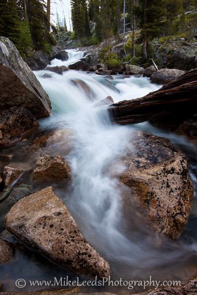 Upper Fern Falls on the Upper South Fork Payette River, Sawtooth Mountains, Idaho.
