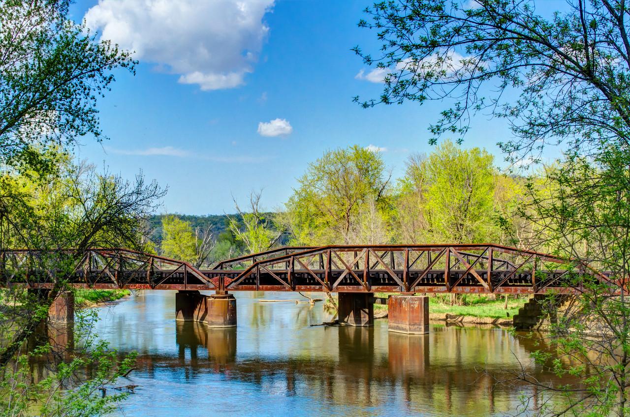 Railroad bridge over the Trempealeau River.