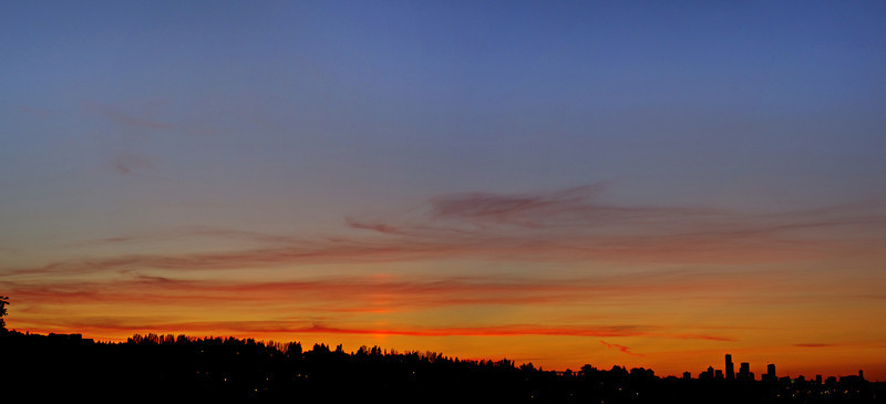 August 7, 2011 sunset - 5 photo panorama with the FA43 lens