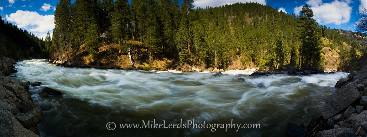 Screaming Left Turn Rapid on the North Fork Payette River in Idaho.