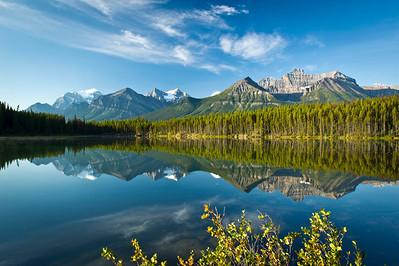 Reflection Perfection in the Canadian Rockies Herbert Lake, Banff National Park Alberta, Canada © 2011
