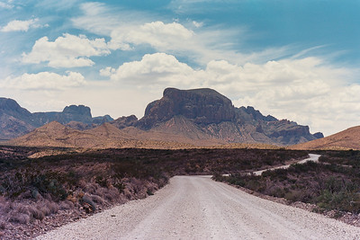 Into the Chisos.  Big Bend National Park.  Shot captured on Kodak Ektar film.