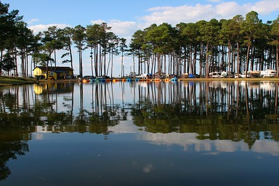 Rental paddleboats on the pond @ Cherrystone Campground, Va.