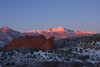 Fresh blanket of snow on Pikes Peak from Garden of the Gods, Colorado Springs, Colorado. October 27 2011