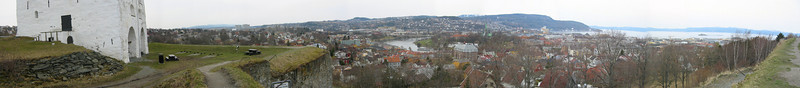 Panorama over Trondheim from Kristiansten fort