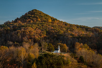 Pleasant Hill Baptist Church in fall