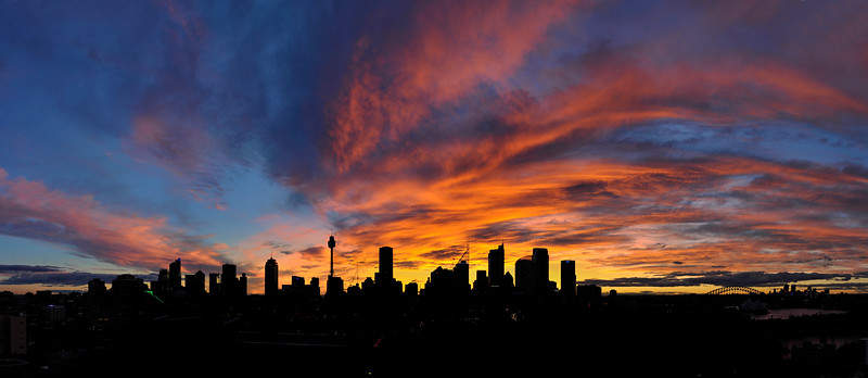 Sydney sunset panorama, Australia.