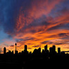 Sydney sunset panorama, Australia.