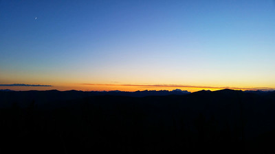Landscape: Sunset & Moon Rise Over the North Cascades | North Cascades National Park