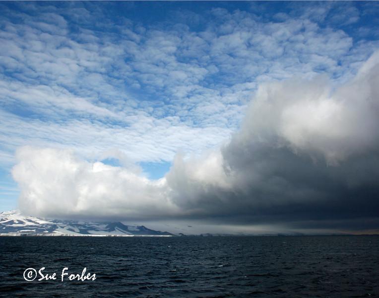 Storm Approaching Ross Ice Shelf