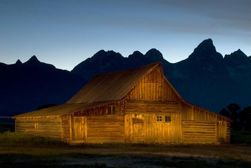 Mormon barn - Light-painted, Grand Teton National Park