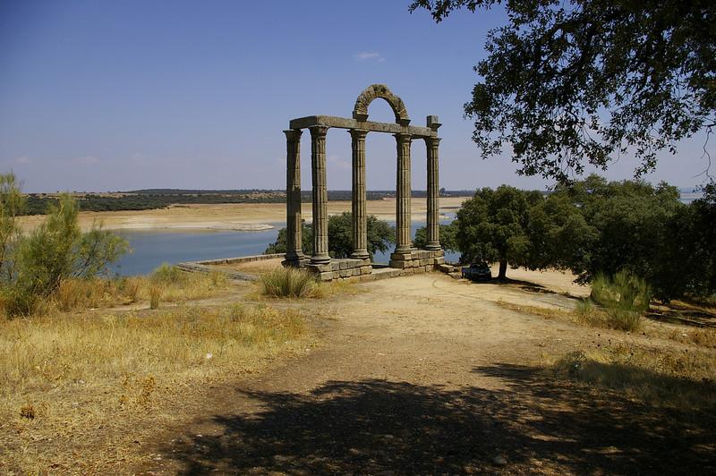 "39°48'23.81""N     5°28'56.89""W,     Roman Temple, Extremadura, Spain"