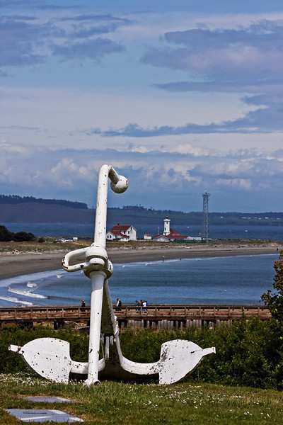 Anchor and Light House at Fort Worden, Pt. Townsend, WA