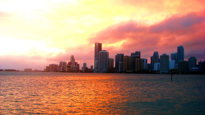 Took at shot of Miami downtown from a ship while took a cruise.
