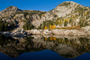 Alpine lake at sunrise<br /> Wasatch Mountains<br /> Utah