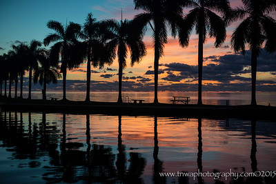 Sunrise Colors Reflection Deering Estate - Bayside Miami, Florida © 2015