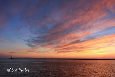 Sunset at Ludington Beach
