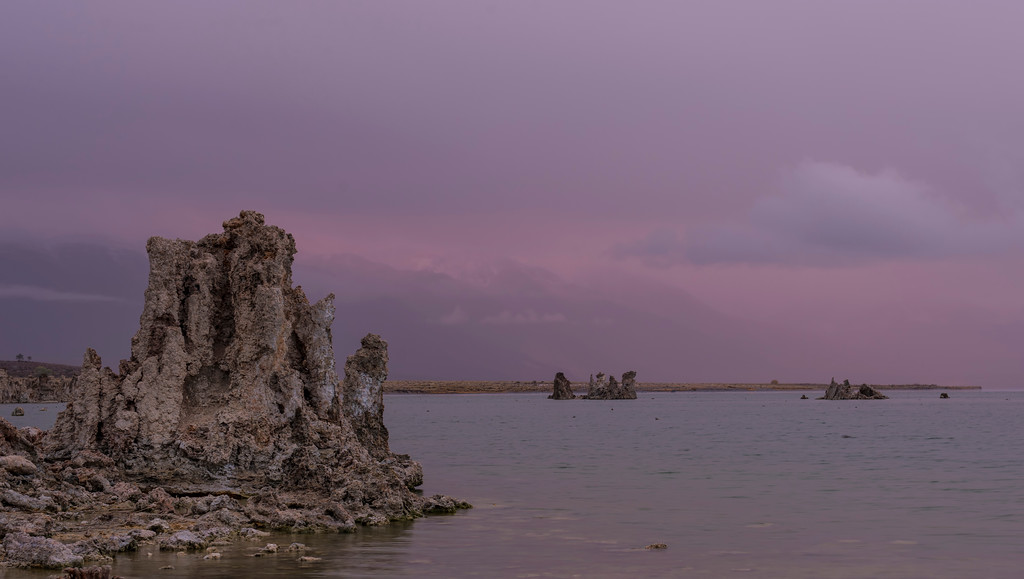 Rainy Sunrise at Mono Lake