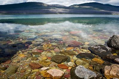 Follow The Colorful Stones Lake McDonald, Glacier National Park Montana © 2011